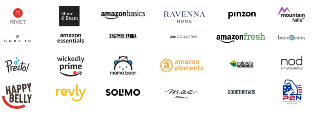 private label brands, list of private label brands, amazon private label brands, private label brands by amazon